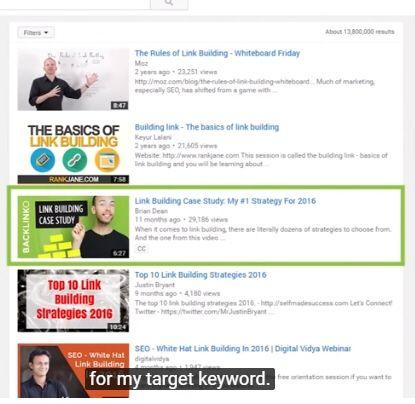 YouTubeの検索の最適化