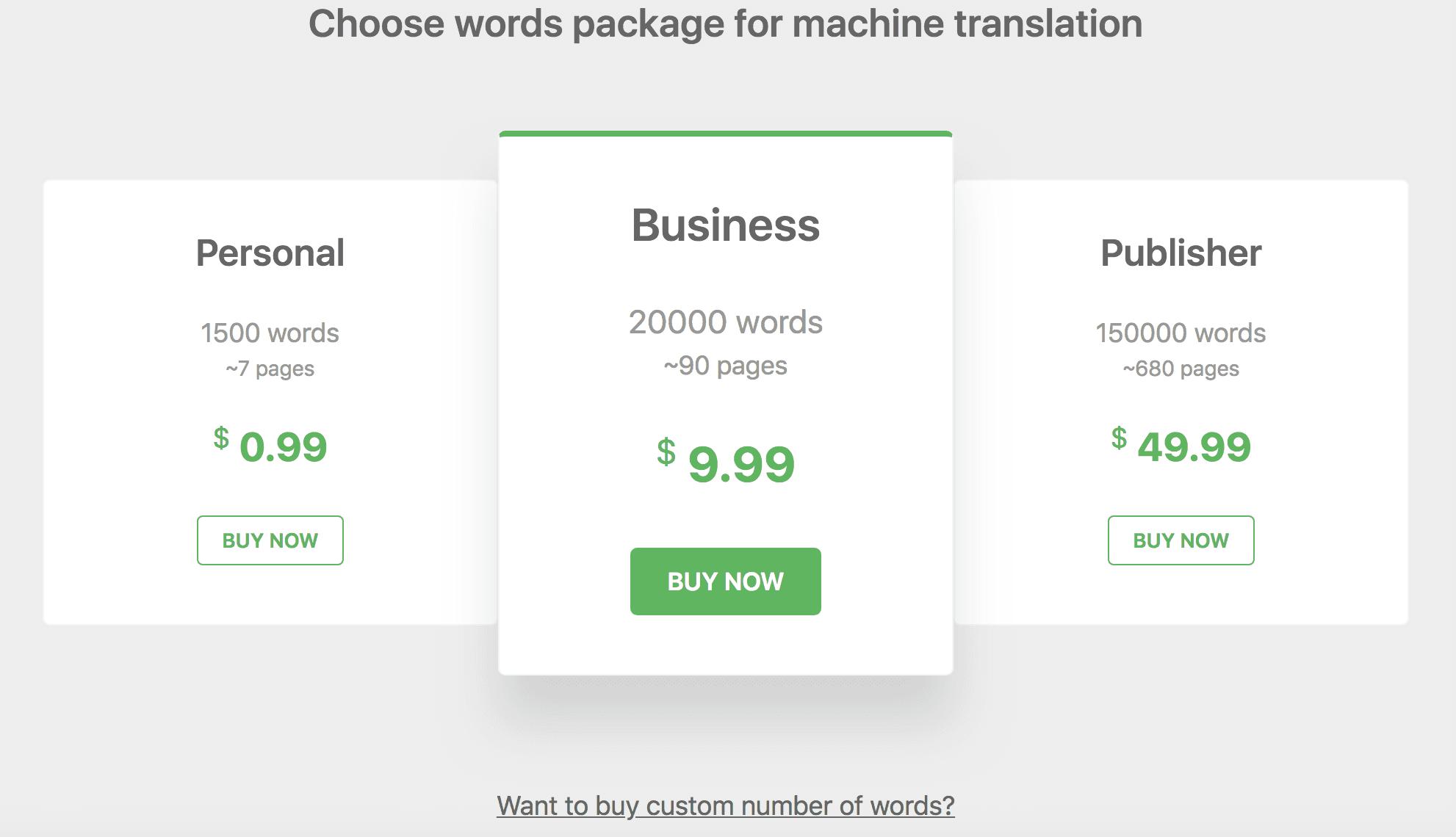 WPML 고급 번역 편집기 기계번역 가격