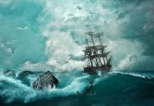 폭풍우를 헤쳐가는 배