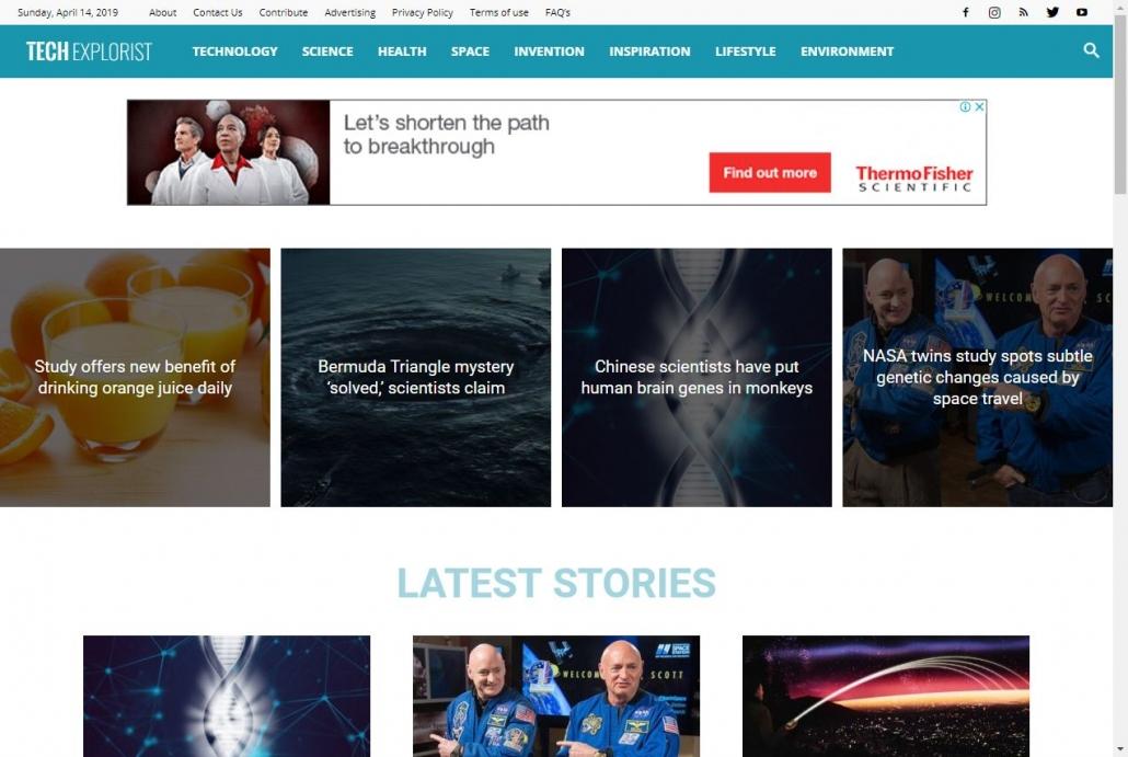 ワードプレス Newspaper テーマ -  Tech Explorist