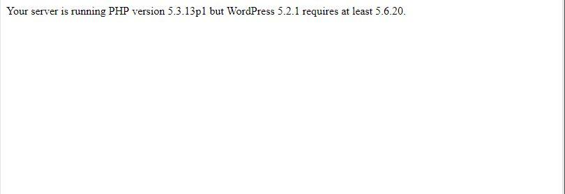 워드프레스 PHP 버전