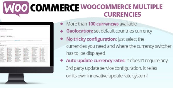 WordPress WooCommerce 複数通貨のプラグイン