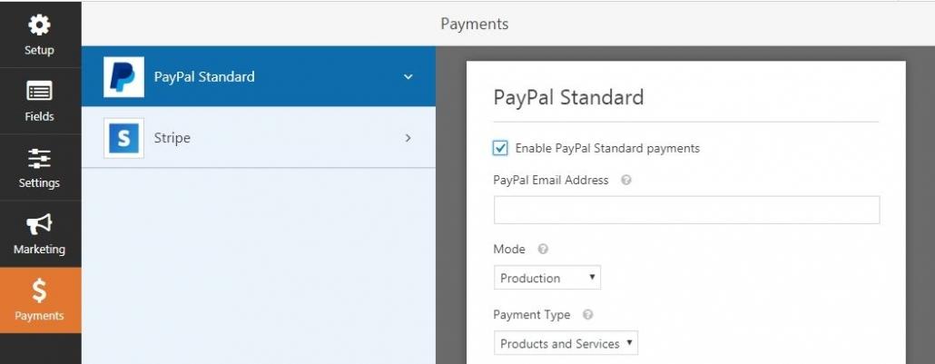 WPForms WordPress コンタクトフォーム -  PayPalでの支払い