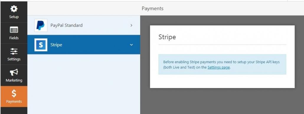 WPForms  -  Stripe支払いオプション