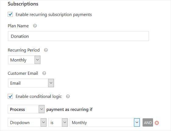 ワードプレスWPFormsでStripe自動支払いセッティング