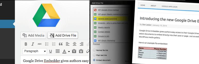 ワードプレスGoogle Drive Embedderプラグイン