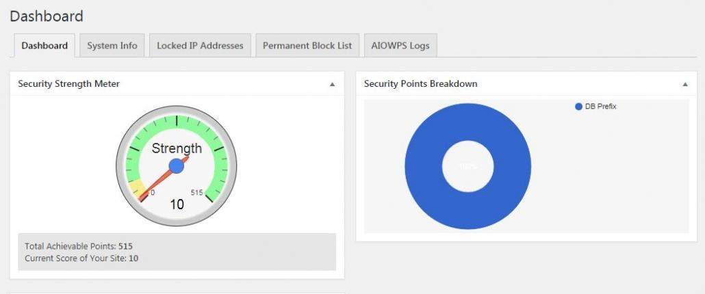 워드프레스 보안 플러그인 All In One WP Security & Firewall