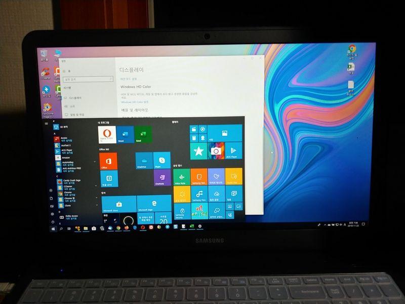 삼성전자 노트북5 NT550EBV-AD5BA - 윈도우 10