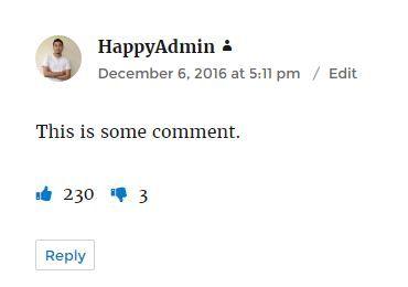 ワードプレスのコメントに良い/嫌いボタン表示例