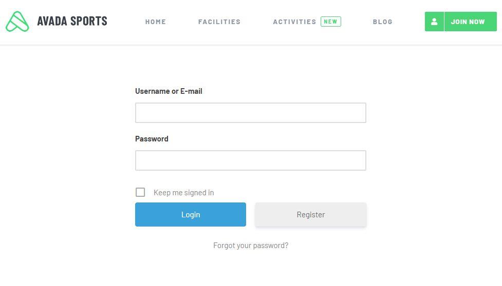 Ultimate Memberログインページの例