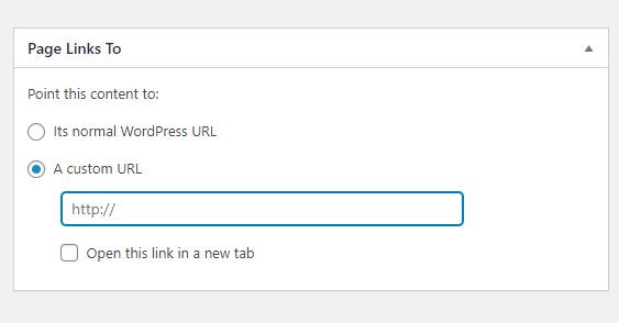 古典的なエディタ内のページ、記事のリンクのURLを変更する