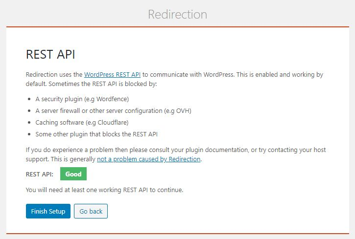 Redirection 플러그인 - REST API