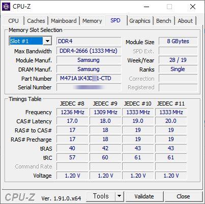 CPU-Z 유틸 - 메모리 확인