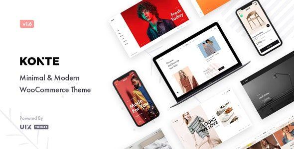 WordPress WooCommerce ショッピングモールのテーマ -  Konte