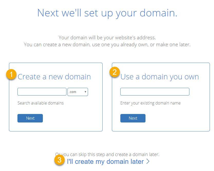 미국 웹호스팅 블루호스트 가입 - 도메인 선택