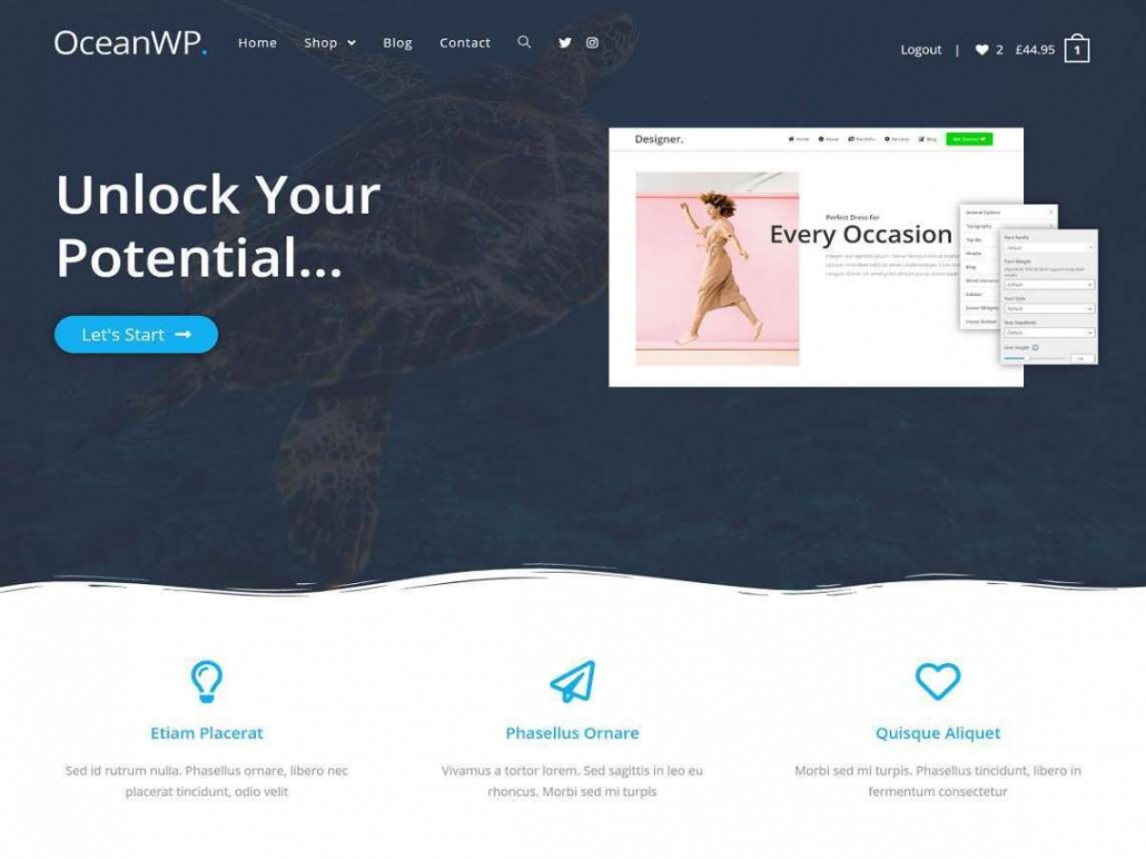 WordPress 多目的テーマOceanWP