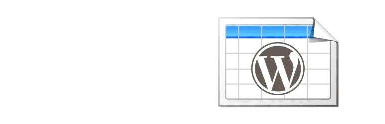 ワードプレスの表を作成し、プラグイン:TablePress