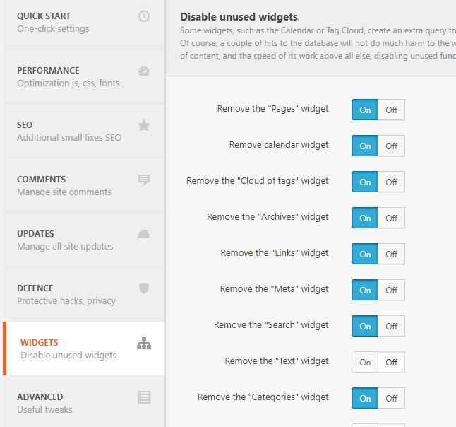 WordPress パフォーマンスの最適化プラグイン
