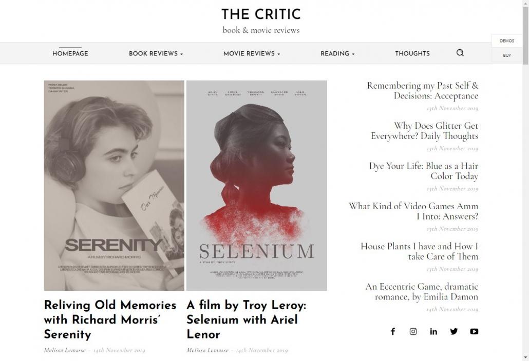 워드프레스 리뷰 블로그용 뉴스페이퍼 테마 데모 The Critic