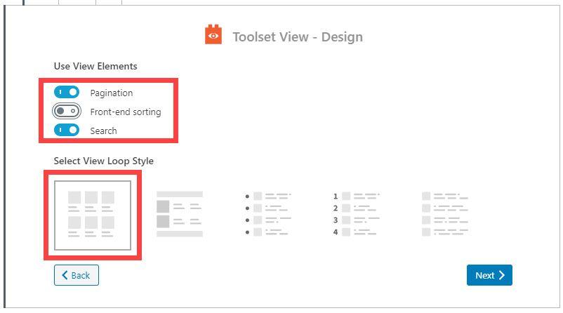 Toolset Viewブロック - 検索機能