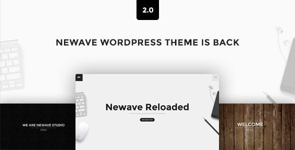 Newave  -  WordPress 反応型ワンページ視差テーマ
