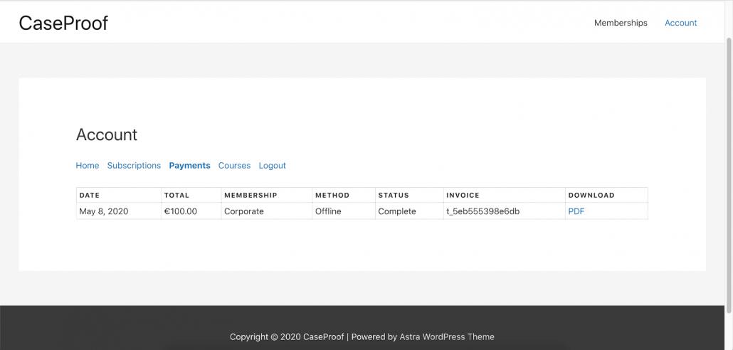 MemberPress invoices 1030x492  - コンテンツの有料化メンバーシップのプラグインMemberPress、PDF、請求書アドオン