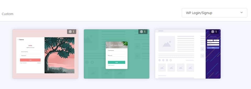 ワードプレスログイン/会員登録ポップアップ