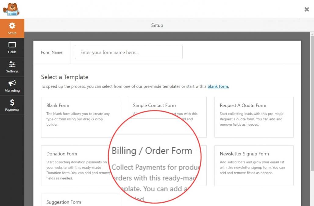 WordPressでWPFormsを使用してオンライン注文フォームの作成12