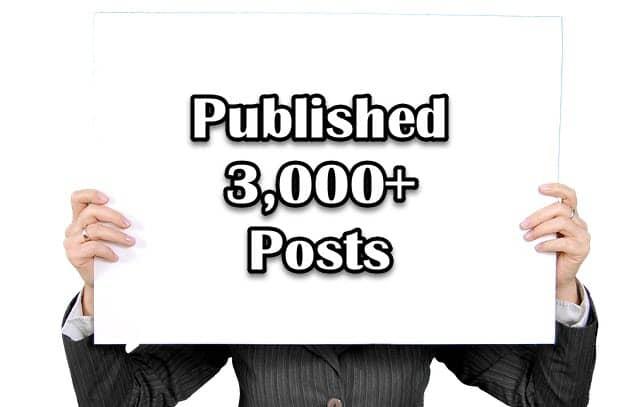 워드프레스 글 3000개 발행