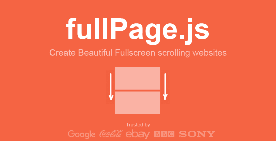 WordPress フルスクリーンスクロールプラグイン -  fullPage.js