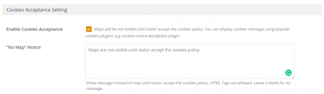 위치정보 수집 동의 후 구글맵 로드 (쿠키 정책 동의)
