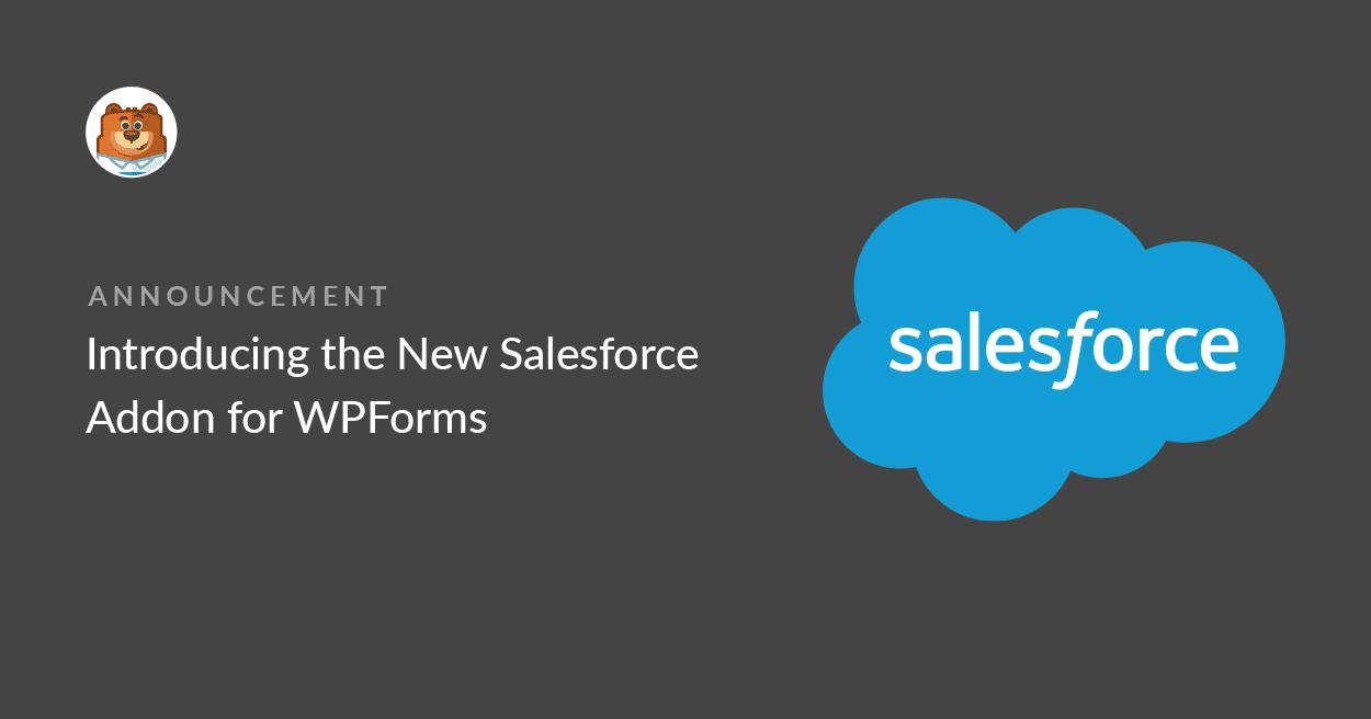 워드프레스 문의 데이터를 세일즈포스 CRM에 저장하는 WPForms의 Salesforce 애드온