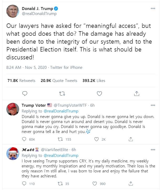 도널드 트럼프 대통령 트윗; 우편투표 사기 주장