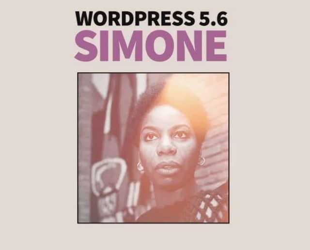 워드프레스 5.6 업데이트 - 전설적인 재즈의 디바 니나 시몬 사진