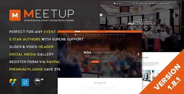 워드프레스 컨퍼런스 이벤트 테마 Meetup