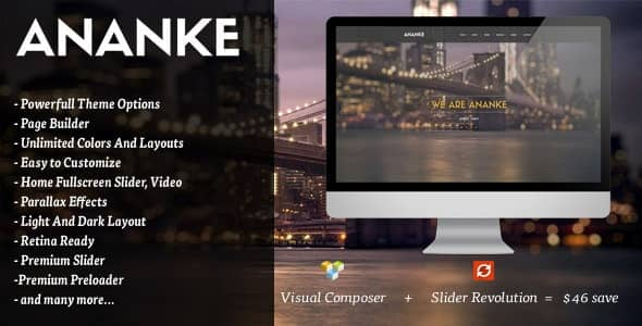 Ananke  - ワンページParallax WordPress テーマ
