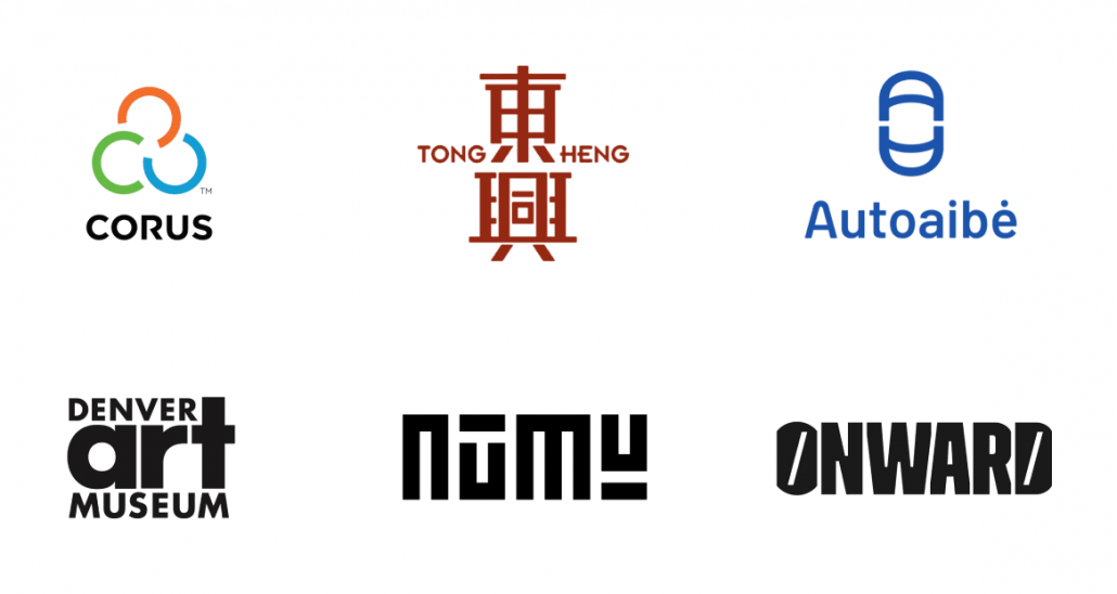 2021年10代のロゴデザインの傾向 - バランスを重視したパターン