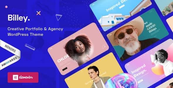 Billey  -  Creative Portfolio&Agency Elementor WordPress Theme(クリエイティブなポートフォリオ&エージェンシーエレメン WordPress テーマ)
