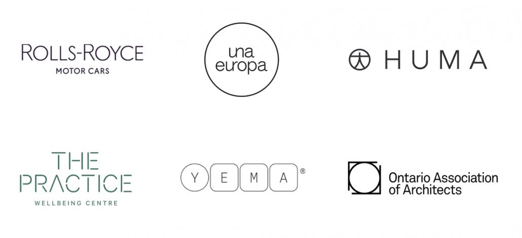 2021年10代のロゴデザインのトレンド - 細い線を利用したパターン