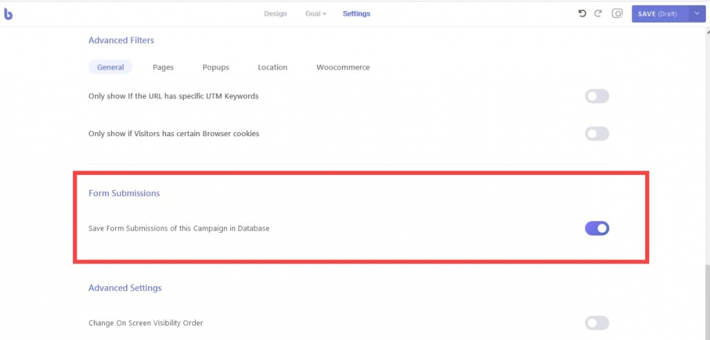 WordPress ポップアッププラグインBraveコンタクトフォームお問い合わせフォームの送信データの保存