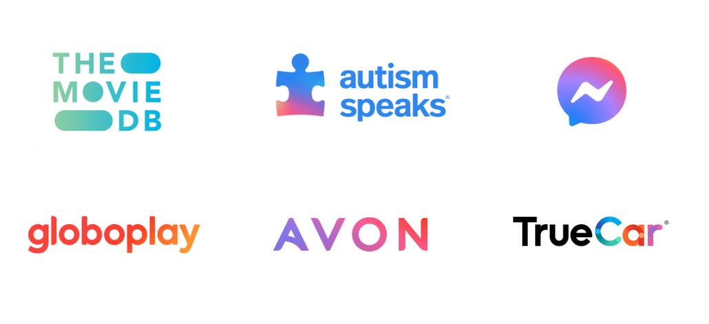 2021年10代のロゴデザインのトレンド - グラデーション