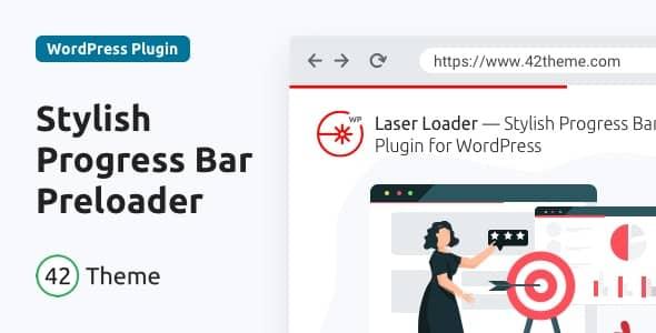 今月の無料ダウンロード:Laser Loader WordPress プリローダーのプラグイン