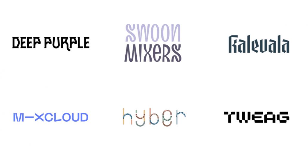 2021年10代のロゴデザインのトレンド - 特異フォント