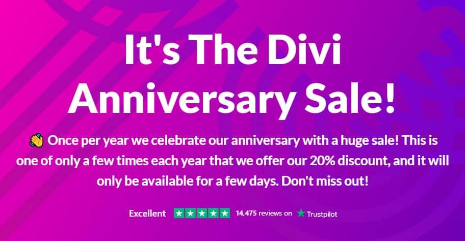 WordPress Diviテーマ13周年記念割引イベント