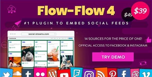 WordPress ソーシャルストリームのプラグイン -  Flow-Flow
