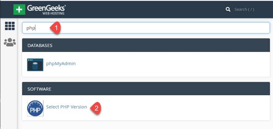 海外ホスティングGreenGeeks:HTTP3、LiteSpeed 6、PHP 8サポート -  PHPのバージョンを変更する