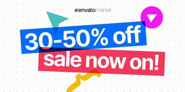 엔바토 마켓 상반기 결산 세일 (30~50% 할인)