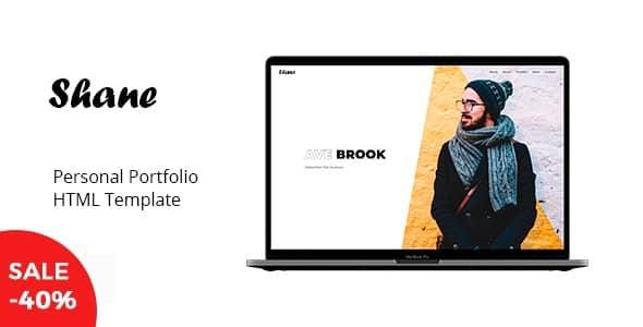 이달의 무료 다운로드: 개인 포트폴리오 템플릿 Shane (HTML)