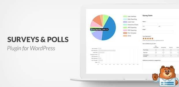 워드프레스 온라인 설문조사 양식 만들기 - WPForms 플러그인의 Surveys and Polls 애드온