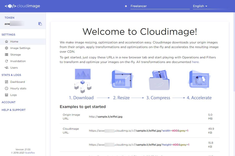Cloudimageに WordPress サイトの速度向上とトラフィックを削減